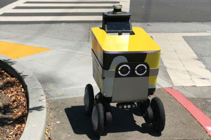 Serve, Postmates' cooler-inspired autonomous delivery robot on service.