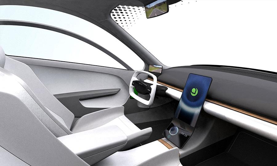 An updated Aptera EV interior