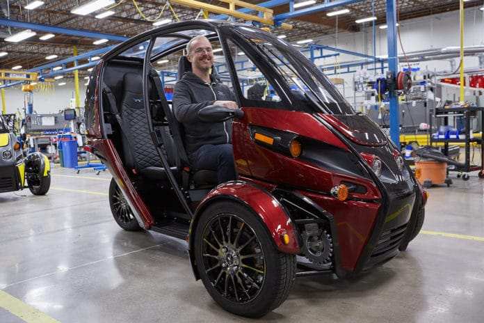 Arcimoto has announced the start of sales of the Fun Utility Vehicle (FUV)
