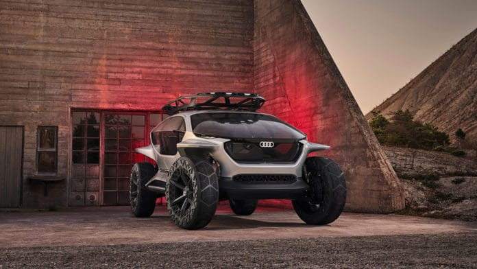 Audi's AI:Trail Quattro self-driving off-roader.
