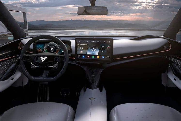 A wing dashboard floats across the front of the interior.