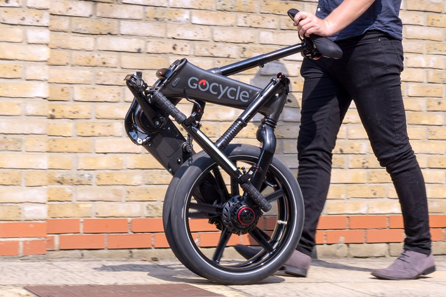 The bike can be folded into a compact package in just 10 seconds.