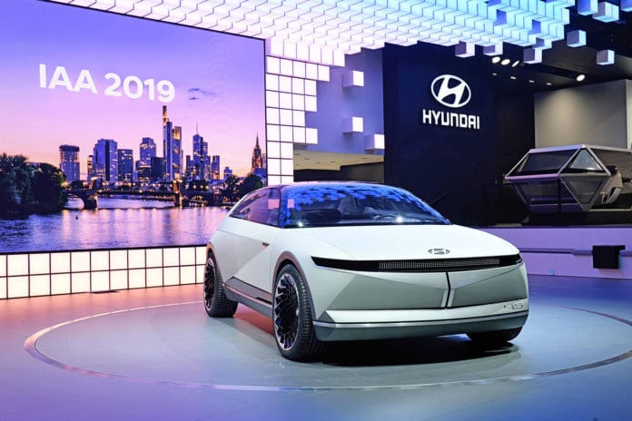 Hyundai's latest concept model showcases the brand's future design direction for electric vehicles.