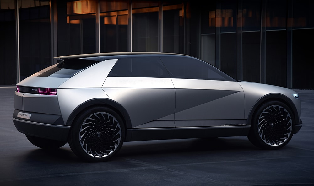 Named 45, this new design concept is inspired by the Pony Coupe Concept