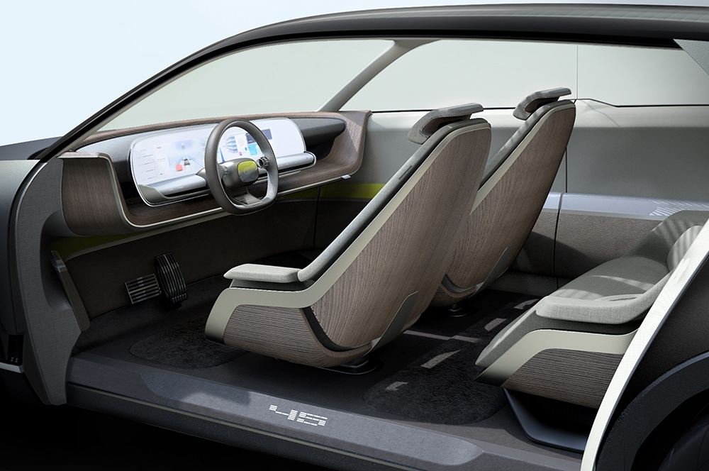 The batteries are placed on the floor of the vehicle, which contributes to its spacious interior.