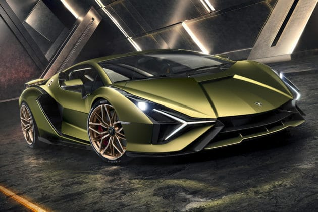 The Lamborghini Sián: Limited edition hybrid super sports car. Image Credit: Lamborghini