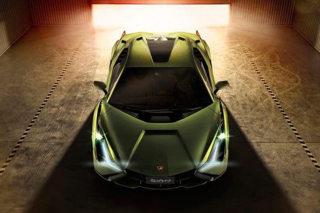 The car has Y-shaped headlights. Image Credit: Lamborghini