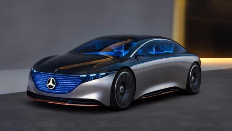 the Mercedes-Benz Vision EQS concept