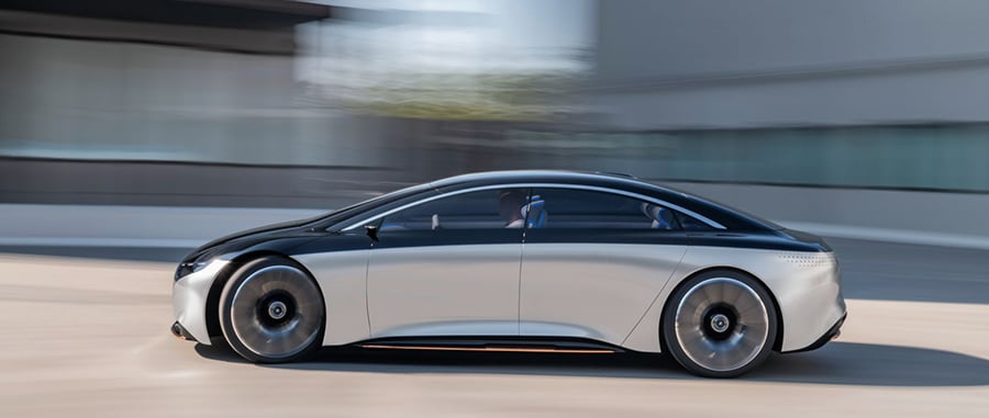 Mercedes-Benz Vision EQS is expected to accelerate from zero to 100 kilometers per hour in less than 4.5 seconds.