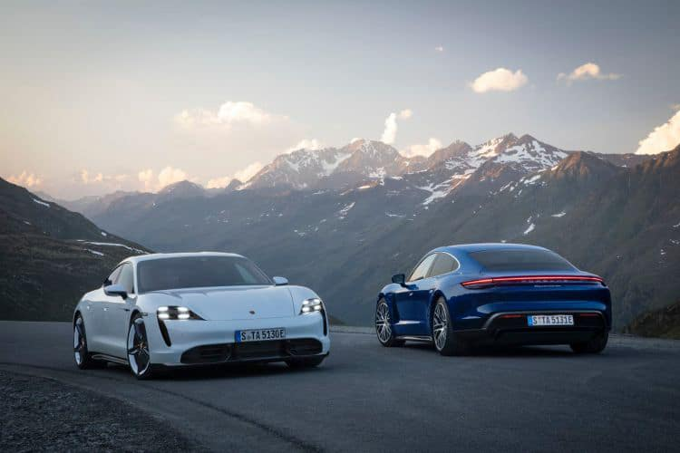 The car will reach the market in two variants, Taycan Turbo and Taycan Turbo S. Image Credit: Porsche