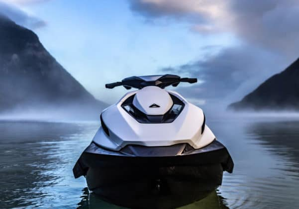 The company's new product is very similar to the Jet Ski, and it immediately catches the eye.