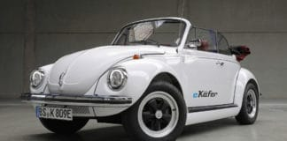 The e-Beetle – developed using electric components from the new e-up! Credit: Volkswagen