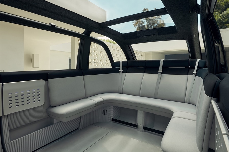 Canoo's rear interior