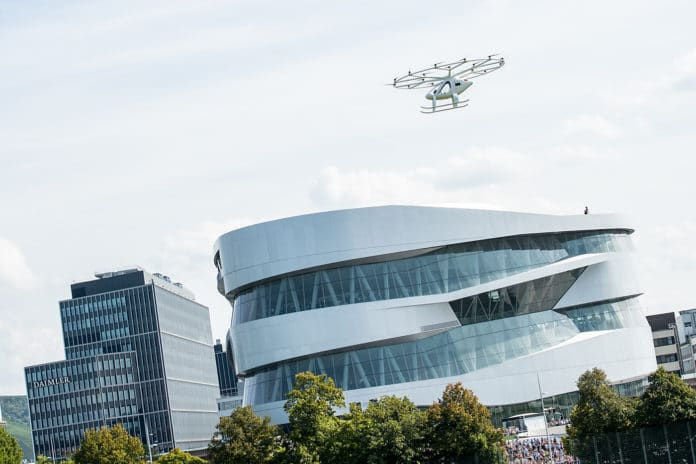 Air taxi flew for the first time in Europe