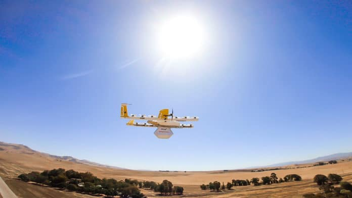 Wing delivery drones