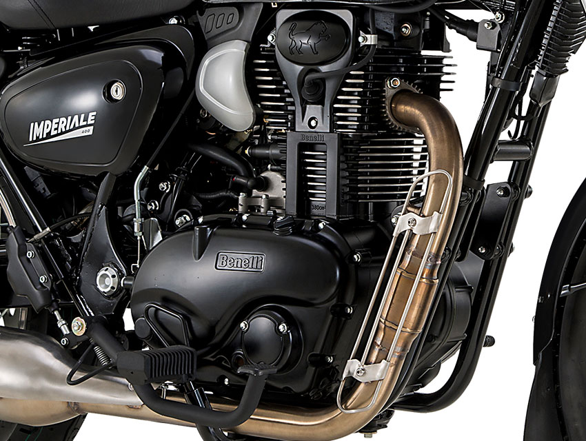 Imperiale 400 has single-cylinder, four-stroke, air-cooled SOHC engine