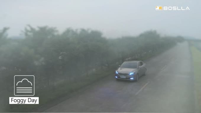 It enables driver easier to be identified in rainy, foggy and snowy days.