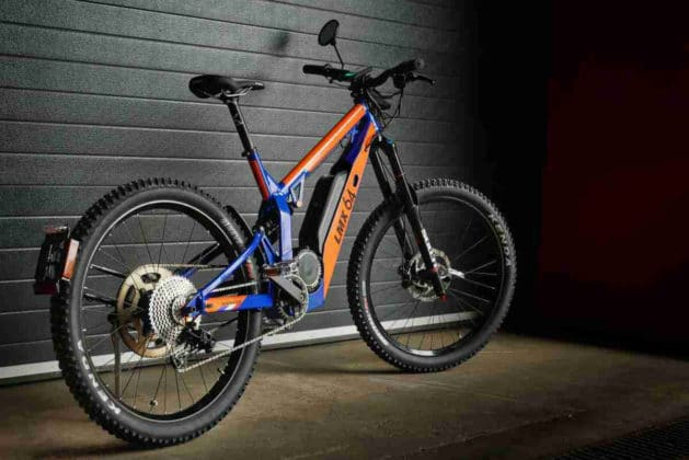 The new LMX 64H model is both an electric bicycle and an electric motorcycle.