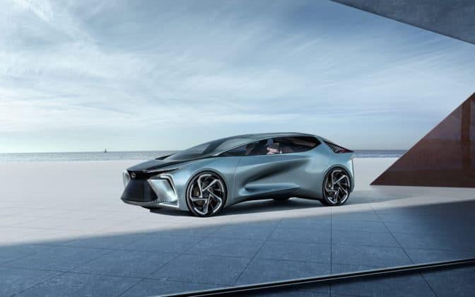 Futuristic exterior foreshadows the Lexus Electrified vehicles towards 2030.