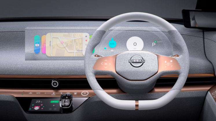 Other than the start button and shifter, the IMk's thin dashboard is void of physical controls.