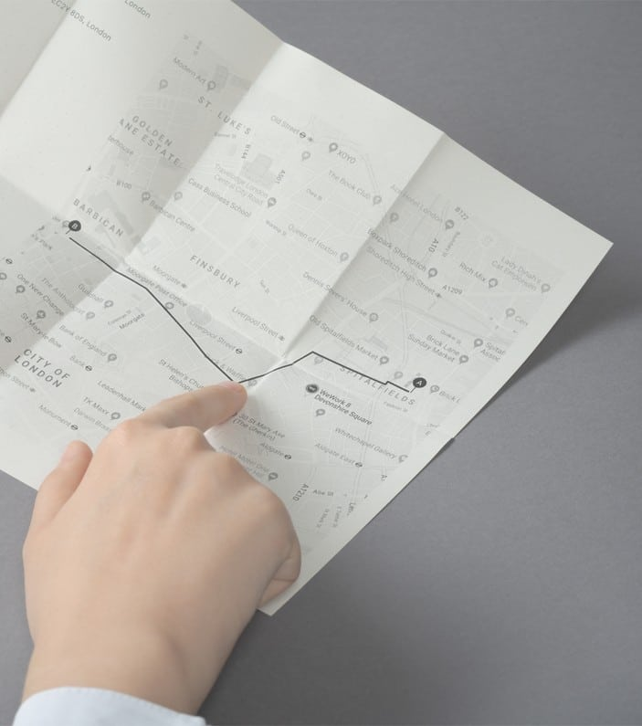 Find navigation map on Paper Phone