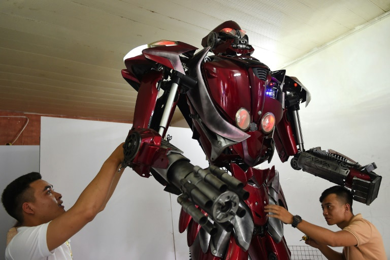 The robot is three-metre high and weighs around 100-kilogram
