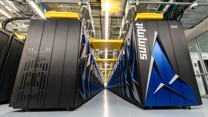 Summit, a 200 petaflop supercomputer.