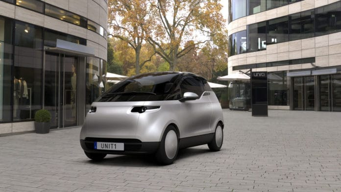 Uniti One, the compact electric city car.