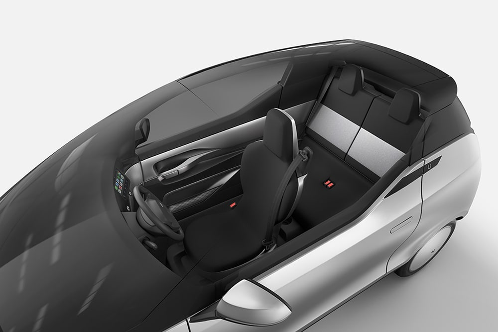 Uniti One has the panoramic roof with electrically adjustable transparency.