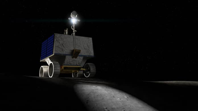 NASA's VIPER is a mobile robot that will roam around the Moon's south pole looking for water ice.