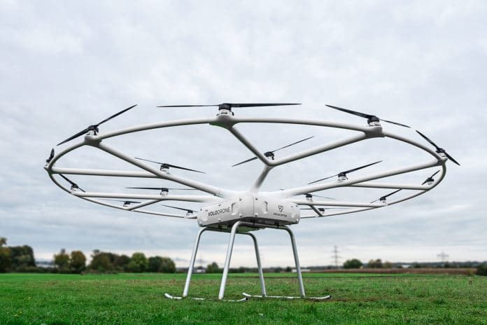 VoloDrone heavy-lift cargo drone.