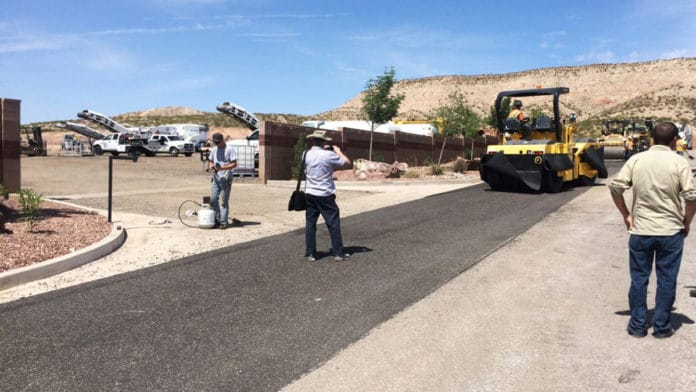 Los Angeles is testing plastic asphalt. Credit: TechniSoil Industrial