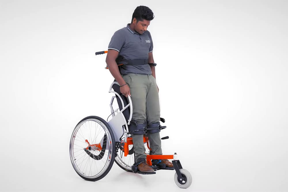 It allows the user to independently rise to a standing position.