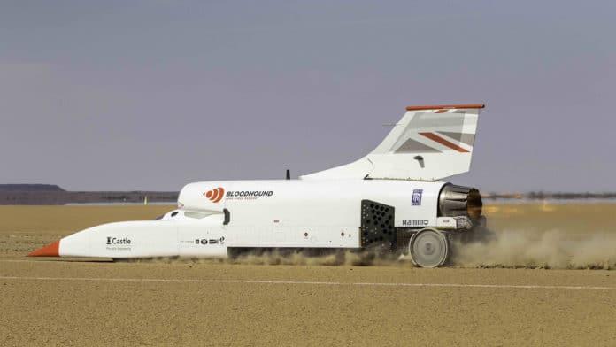 Jet-Powered Bloodhound LSR car