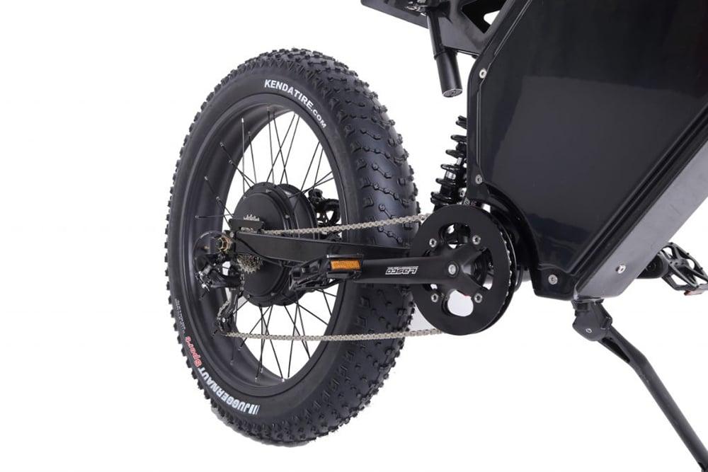 The fat, low-pressure Kenda JUGGERNAUT 26x4.5 tires