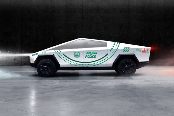 Tesla Cybertruck will become part of the police fleet.