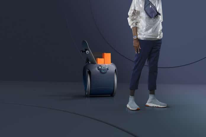 Piaggio Gita Cargo Bot follows its owner while carrying their belongings. Credit: Piaggio Fast Forward