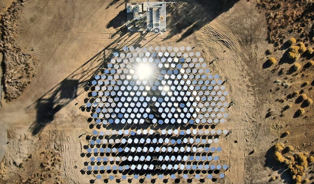 Using Artificial Intelligence (AI) and a field of mirrors to reflect enough sunlight to produce extreme temperature.