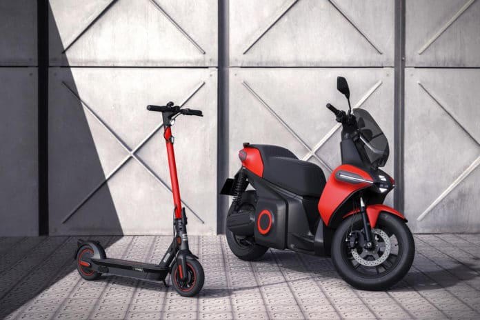 SEAT creates a business unit to promote urban mobility and presents its e-Scooter concept. Credit: SEAT
