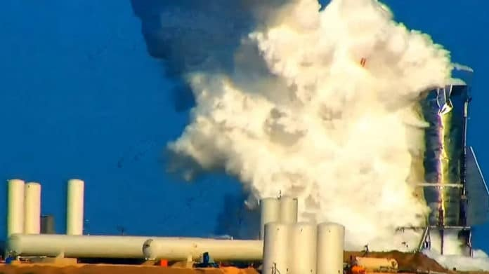 SpaceX Starship Mk1 exploded during pressure test