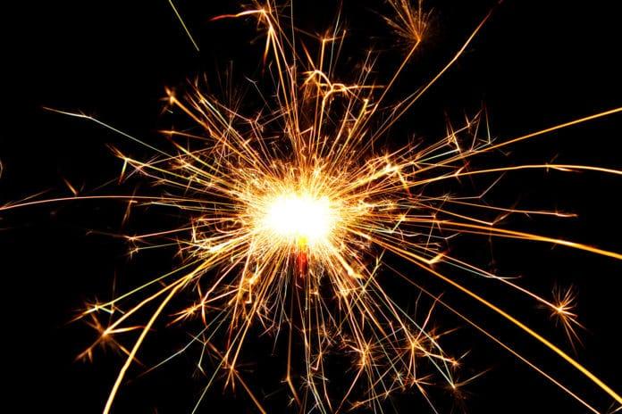 Burning sparkler