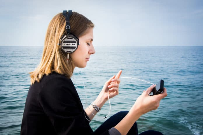 These are the portable on-ear headphones which enable you to get up and go. Credit: Erzetich
