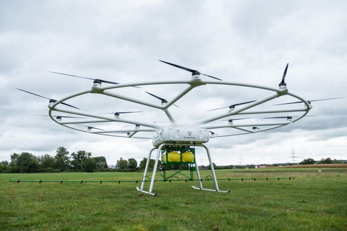 Heavy-lift utility drone for agriculture.