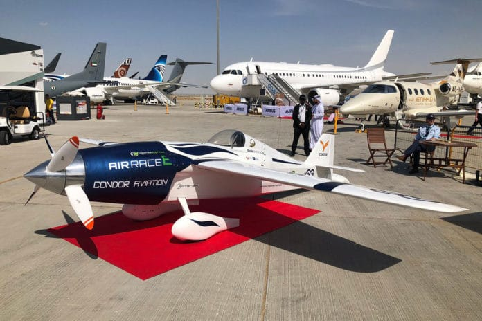 White Lightning, an electric-powered sports aircraft