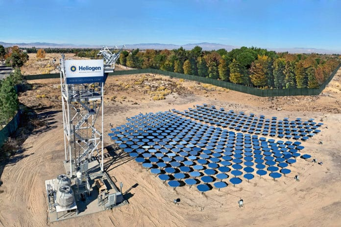 Heliogen achieves breakthrough temperatures from concentrated sunlight for industrial processes. Credit: Heliogen