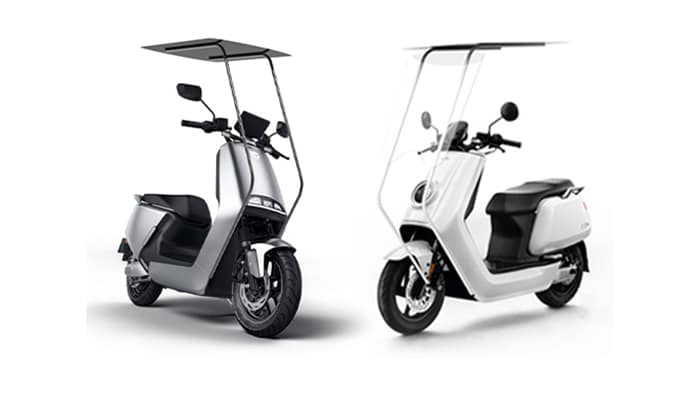 It can charge the battery of the EV while riding or parking.