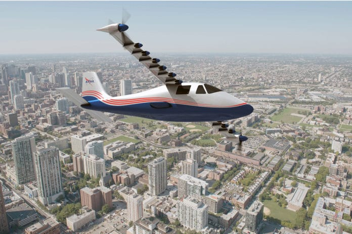 NASA's 100% electric aircraft, X-57 Maxwell. Credit: NASA