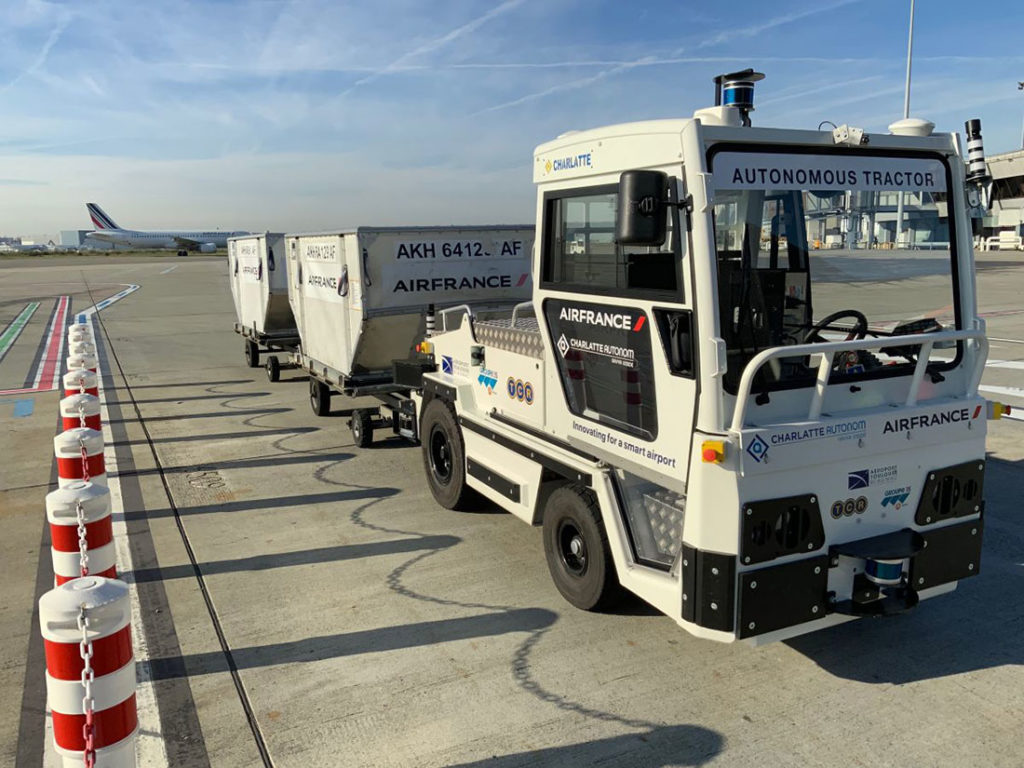 Robotic baggage tractor is designed to improve safety and enhance baggage flow performance.
