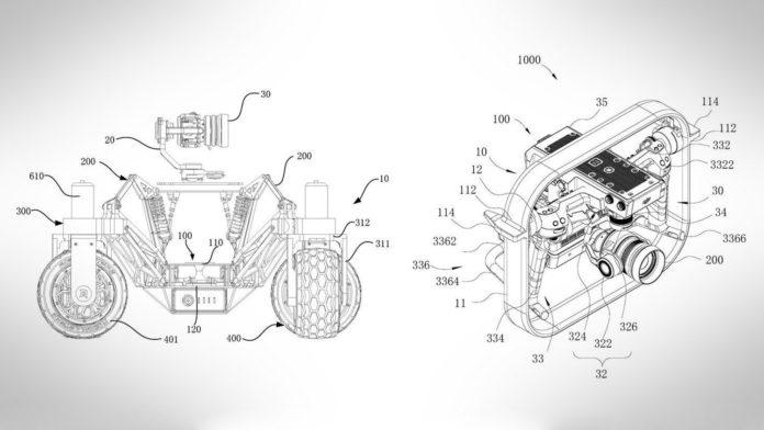 The illustration of DJI camera car patent.