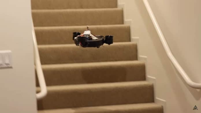 Flying Roomba vaccum cleaner.